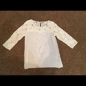 Cream lauren Conrad blouse